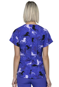 HeartSoul HeartSoul Prints Round Neck Top in Always Be A Unicorn (HS685-AWUN)