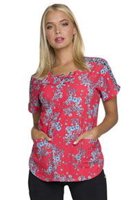 HeartSoul HeartSoul Prints Round Neck Top in Festival Floral (HS686-FEFS)