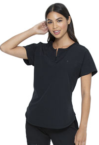 Heartsoul Tuckable Round Neck Top Black (HS689-BCKH)