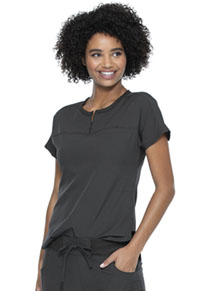 Break on Through Tuckable Round Neck Top (HS689-PEWH) (HS689-PEWH)