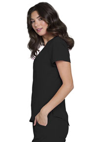 HeartSoul Break on Through V-Neck Top in Black (HS710-BCKH)