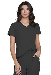 Break on Through Tuckable V-Neck Top (HS710-PEWH) (HS710-PEWH)