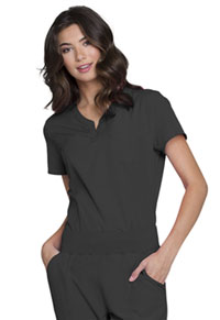 "HeartSoul Break on Through ""Roxy"" V-Neck Top in Pewter (HS710-PEWH)"