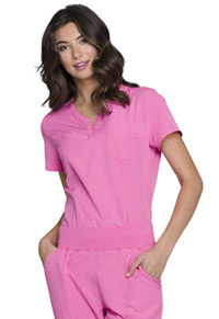 "HeartSoul Break on Through ""Roxy"" V-Neck Top in Pink Party (HS710-PNKH)"