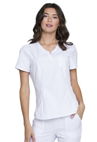 HeartSoul Roxy V-Neck Top White (HS710-WHIH)