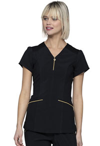 Heartsoul V-Neck Top Black (HS715-BAPS)