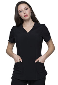 Heartsoul V-Neck Top Black (HS725-BAPS)