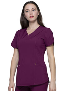 HeartSoul Love Always V-Neck Top in Wine (HS725-WNPS)