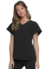 Heartsoul V-Neck Top Black (HS735-BAPS)