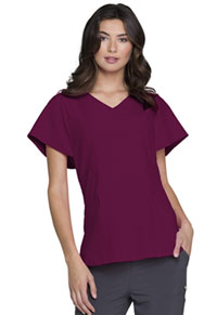 HeartSoul V-Neck Top Wine (HS735-WNPS)