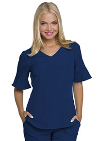 HeartSoul Mock Wrap Top Navy (HS740-NAYH)