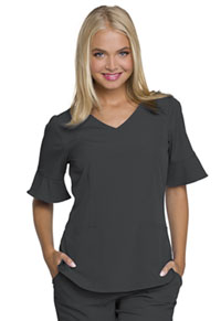HeartSoul Princess Mock Wrap Top Pewter (HS740-PEWH)