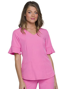 Break on Through Mock Wrap Top (HS740-PNKH) (HS740-PNKH)