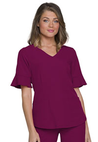 HeartSoul Mock Wrap Top Wine (HS740-WINH)