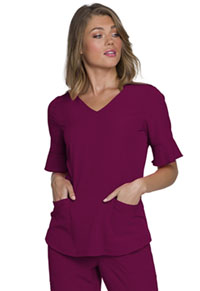 HeartSoul Break on Through Mock Wrap Top in Wine (HS740-WINH)