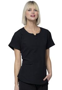 HeartSoul Break on Through Round Neck Top in Black (HS745-BCKH)