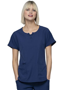 HeartSoul Break on Through Round Neck Top in Navy (HS745-NAYH)