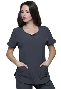 Heartsoul Round Neck Top Pewter (HS745-PEWH)