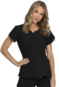 Heartsoul V-Neck Top Black (HS760-BAPS)