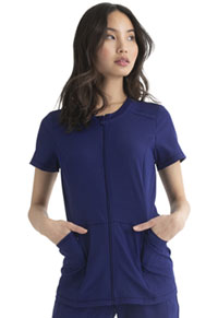 Heartsoul Zip Front Top Navy (HS780-NAYH)