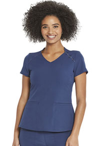 Heartsoul V-Neck Top Navy (HS830-NAYH)