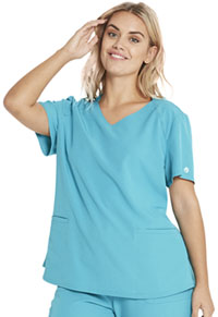 Heartsoul V-Neck Top Teal Blue (HS830-TEAH)