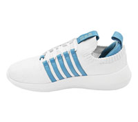 K-Swiss Athletic Footwear White,Blue Moon (ICONKNIT-WHBU)