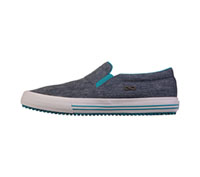 Infinity Footwear MRUSH Heather Navy Canvas,Teal,White (MRUSH-THTW)