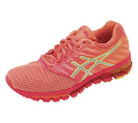 Asics Footwear Athletic Diva Pink ,Silver, Coral Pink (QUANTUM180-PSCP)