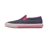 Infinity Footwear RUSH Heather Navy Canvas Pink,White (RUSH-THPW)