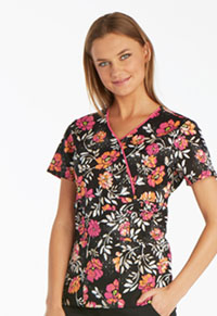 Runway Mock Wrap Top Mixed Petals (RW601-MXPT)