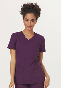 Sapphire Madison Mock Wrap Top Eggplant (SA600A-EGG)
