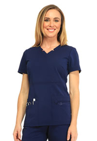 Sapphire Madison Mock Wrap Top Navy (SA600A-NAYS)