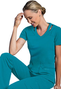 Sapphire Paris V-Neck Top Teal Blue (SA601A-TLB)