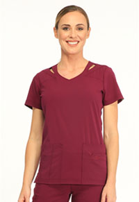 Sapphire Paris V-Neck Top Wine (SA601A-WIN)