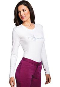 Sapphire Chelsea Underscrub Knit Tee White (SA603A-WTPS)