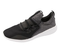 Reebok Premium Athletic Footwear Black,AshGrey,White (SKYCUSHCASUAL-BAGW)