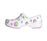 Anywear Closed Back Plastic Clog Burst, White (SRANGEL-BSWH)