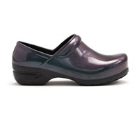 Anywear Closed Back Plastic Clog IridescentPurple,Black (SRANGEL-PZBL)