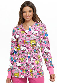 Tooniforms Snap Front Warm-Up Jacket Color Me Hello Kitty (TF300-HKCS)