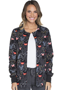 Tooniforms Snap Front Warm-Up Jacket Buttons And Bows (TF300-MKBB)