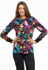 Licensed Prints Snap Front Warm-Up Jacket (TF300-PRAG) (TF300-PRAG)