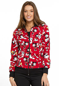 Licensed Prints Zip Front Warm-up Jacket (TF301-MKHG) (TF301-MKHG)