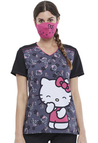 Tooniforms Contoured Face Covering w/ Filter Pocket Hello Kitty Smile (TF504-HKSM)