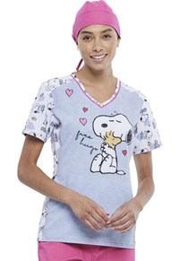 Tooniforms Unisex Scrubs Hat Snoopy Hugs (TF512L-PNSG)