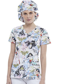 Tooniforms Unisex Bouffant Scrubs Hat Fierce Hero (TF514-DMFW)