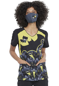 Tooniforms Contoured Reusable Face Covering Super Hero Kick (TF560-DMCK)