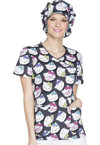 Tooniforms Bouffant Scrub Hat Hello Kitty Glasses (TF599-HKGS)