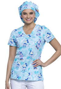 Tooniforms Bouffant Scrubs Hat Plaid About You (TF599-MKBA)