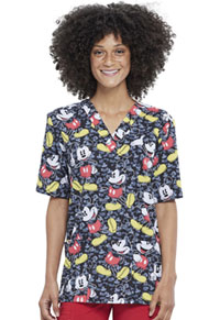 Tooniforms Unisex V-Neck Top All The Mickeys (TF606-MKTE)